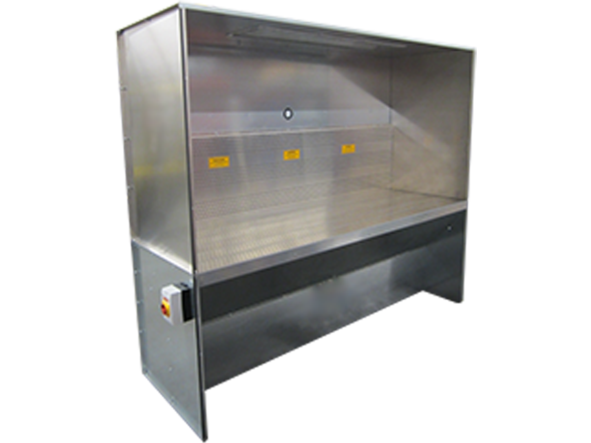 dry downdraft booth