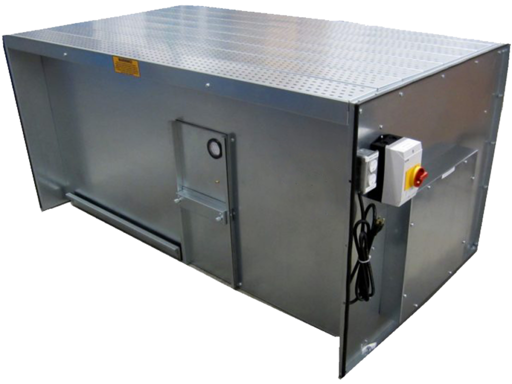 flat-top downdraft bench