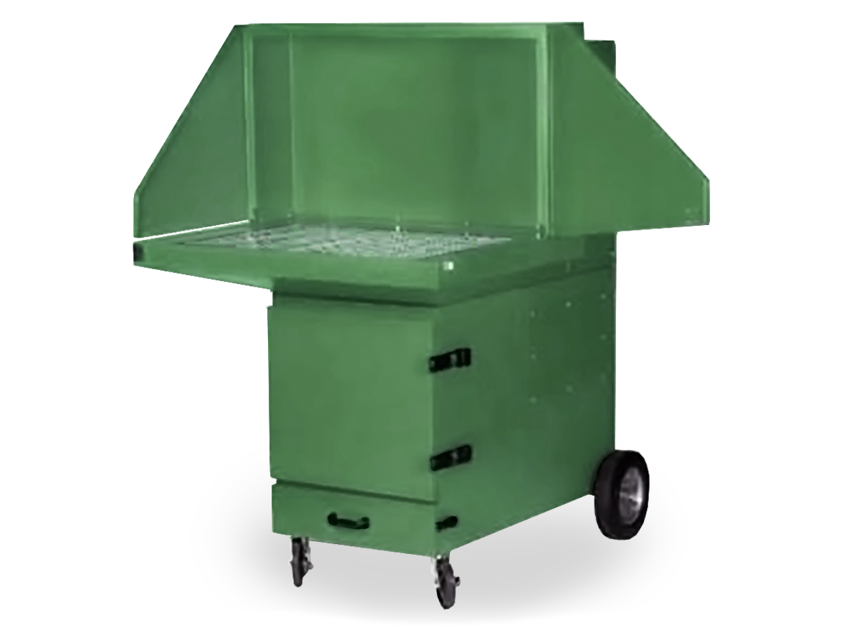 SPCB portable self-cleaning downdraft bench