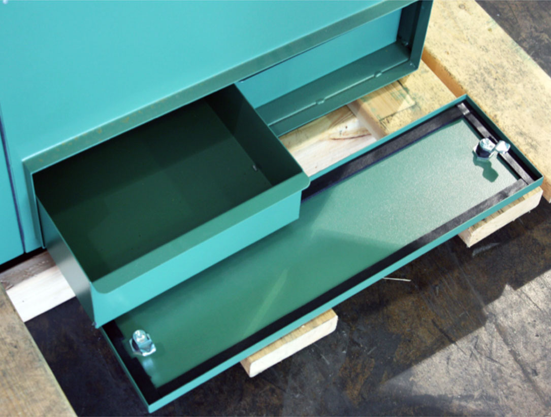 APB self-cleaning downdraft bench dust drawer