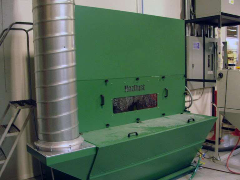 HazDust 5000 ducted wet dust collector in production environment
