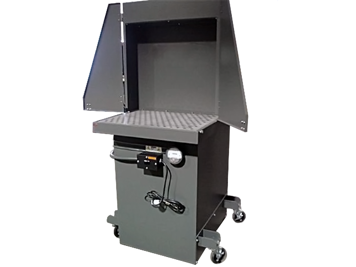 Portable fume and odor booth